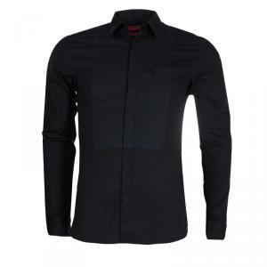 قميص بوس باي هوغو بوس أسود مكسم S