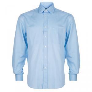 Lanvin Light Blue Cotton Classic Collar Shirt L