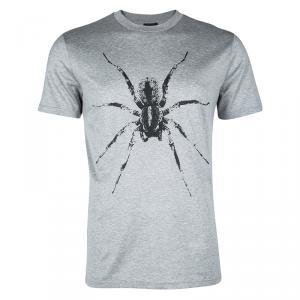 Lanvin Printed Grey Jersey Tarantula Print Crew Neck T-Shirt L