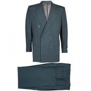 Lanvin Men's Gray Silk Double Breasted Suit XL