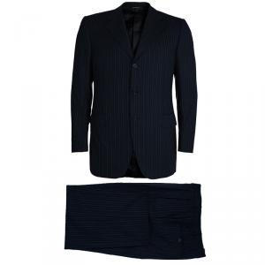 Lanvin Men's Black Striped Suit M