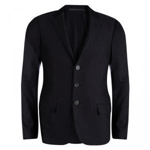 Lanvin Black Wool Notched Collar Blazer M