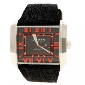 ساعة يد رجالية لوكمان أوتو N.00779 جلد سمك القرش رصاصية إصدار محدود 51مم