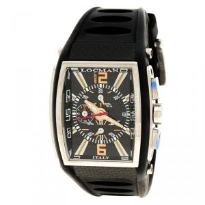 Locman Black Tremila N.C0490 Rubber Men's Wristwatch 40MM