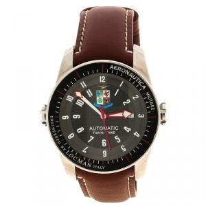 ساعة يد رجالية لوكمان أيرونوتيكا جلد إصدار محدود سوداء44مم
