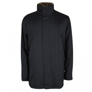 Loro Piana Black Storm System Jacket and Nutria Fur Vest Set 3XL