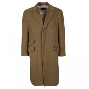Loro Piana Brown Cotton Storm System Coat L