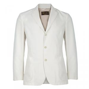 Loro Piana Men's Beige Cotton Blazer M