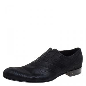 Louis Vuitton Black Suede Lace Up Oxfords Size 44
