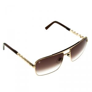 Louis Vuitton Brown/Gold Z0259U Attitude Sunglasses