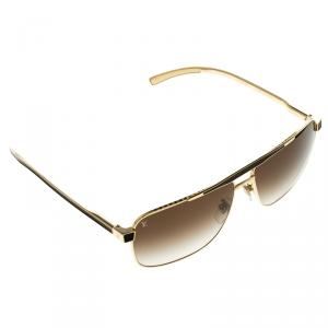 Louis Vuitton Brown/Gold Z0549U Square Aviator Sunglasses