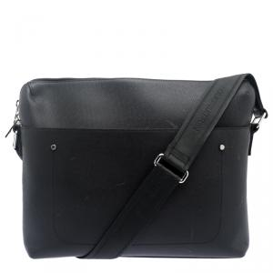 Louis Vuitton Black Taiga Leather Grigori PM Messenger Bag
