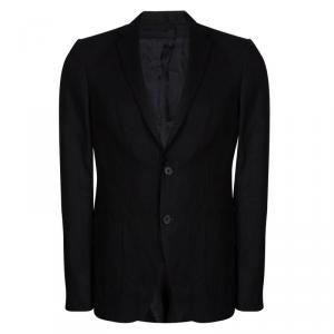 Louis Vuitton Black Linen Two Button Blazer L