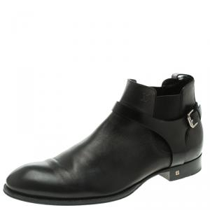 Louis Vuitton Black Leather Greenwich Ankle Boots Size 42.5