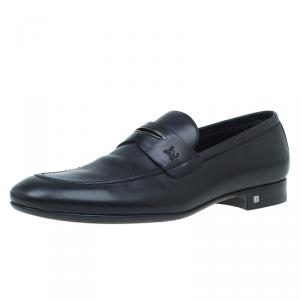 Louis Vuitton Black Leather Griffith Loafers Size 41.5