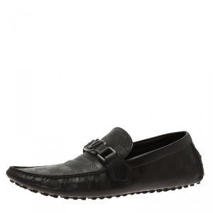 Louis Vuitton Granit Damier Hockenheim Loafers Size 41.5