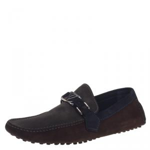 Louis Vuitton Two Tone Suede Loafers Size 42.5