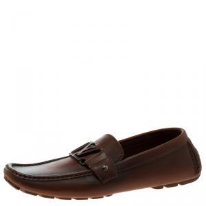 حذاء لوفرز لوي فيتون مونت كارلو جلد لونين بني مزدوج  مقاس 40