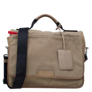 Marc by Marc Jacobs Beige Canvas Messenger Bag