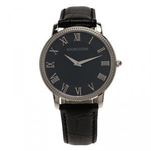 ساعة يد رجالية موبوسين مونتر هوم جاردين ستانلس ستيل سوداء 40مم