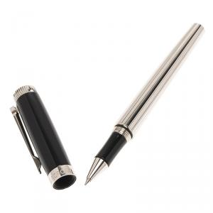 Maurice Lacroix Black and Silver Stainless Steel Classic Ballpoint Pen