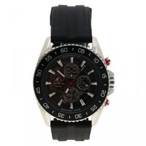Micheal Kors Black Stainless Steel Jetmaster MK 9013 Skeleton Men's Wristwatch 45MM