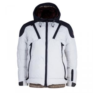 Moncler Grenoble Men's Off-white and Navy Skiing Jacket L