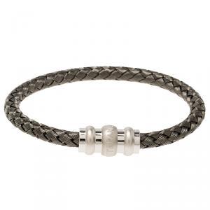 Montblanc Men's Contemporary Collection Silver Woven Bracelet Medium