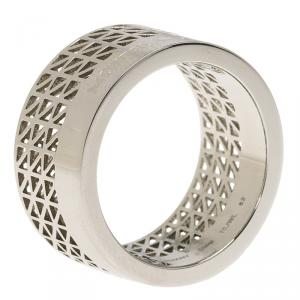 Montblanc Graphic Cutout Steel Band Ring Size 62