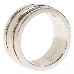 Montblanc Creative Silver Skeletted Men's Band Ring Size 62
