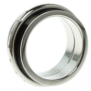 Montblanc Men's Contemporary Collection Black PVD Steel Sliding Ring Size 66