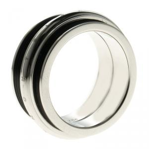Montblanc Men's Contemporary Collection Black PVD Steel Sliding Ring Size 64