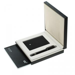 Montblanc StarWalker Midnight Fineliner Pen and Business Card Holder Set