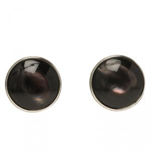 Montblanc Meisterstuck Black Mother Of Pearl Stainless Steel Men's Cufflinks