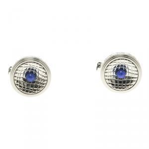 Montblanc Stainless Steel Lapis Lazuli Cabochon Men's Cufflinks