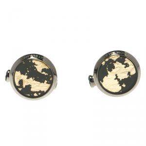 Montblanc Gold Tone Grey Stainless Steel Cufflinks