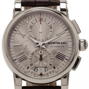 Montblanc Silver Stainless Steel Star Men's Wristwatch 44MM