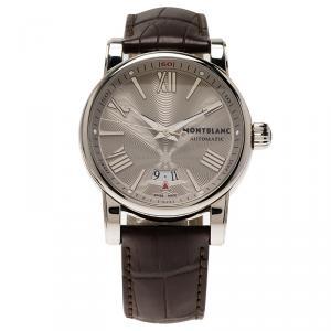 Montblanc Silver Stainless Steel Star Men's Wristwatch 41MM