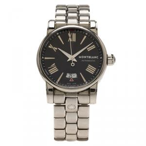 Montblanc Black Stainless Steel Star Automatic Men's Wristwatch 40MM
