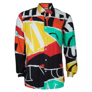 Moschino Couture Men's Abstract Printed Shirt XXL