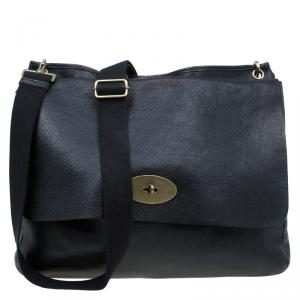 Mulberry Black Leather Messenger Bag