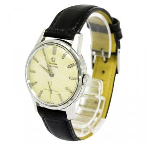 Omega Yellow Stainless Steel Seamaster Men's Wristwatch 35MM