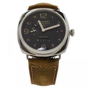 ساعة يد رجالية بانيراي راديومير 10 دايز GMT اصدار محدود ستانلس ستيل سواء 47 مم