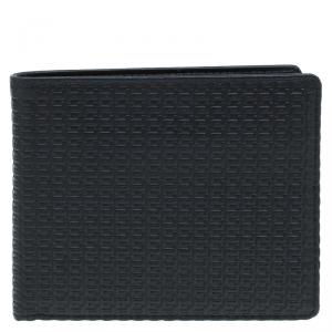 Porsche Design Black Logo Embossed Leather Bi-fold Wallet
