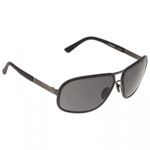 Porsche Design Black P8553 Aviator Sunglasses