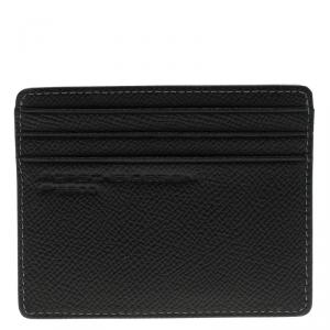 Porsche Design Black Leather P H6 Card Holder