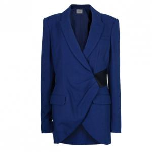 Prabal Gurung Navy Tuxedo Wrap Jacket M