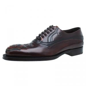 Prada Brown Leather Runway Gladiator Oxfords Size 43