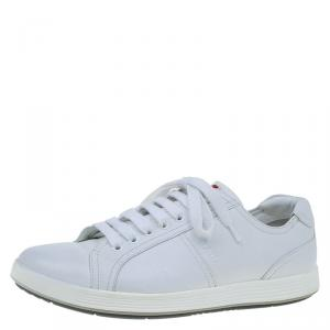 Prada Sport White Leather Lace Up Platform Sneakers Size 42