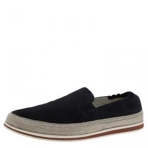 Prada Sport Navy Blue Suede Espadrille Sneakers Size 41.5